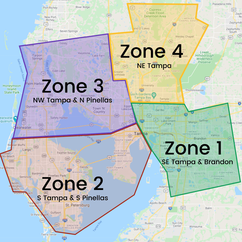 $5 Delivery Day Zone Map